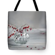 Still Life With Red Berries Tote Bag