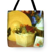Still Life With Straw Hat Tote Bag