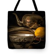 Still Life With Tea Cup Tote Bag