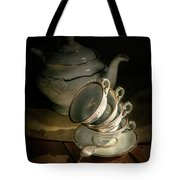 Still Life With Tea Set Tote Bag