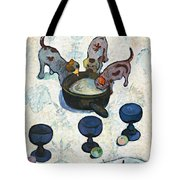 Still Life With Three Puppies Tote Bag