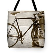 Still Life With Trek Bike In Sepia Tote Bag