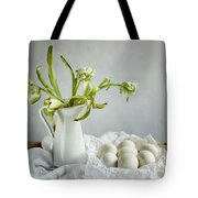 Still Life With Tulips And Eggs Tote Bag