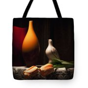 Still Life With Vases And Tulips Tote Bag