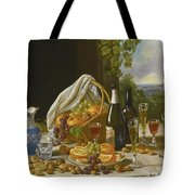 Still Life With Wine And Fruit Tote Bag