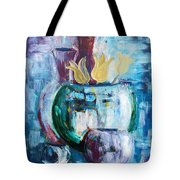 Still Life With Yellow Tulips Tote Bag