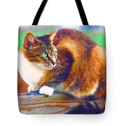 Still On The Fence Tote Bag