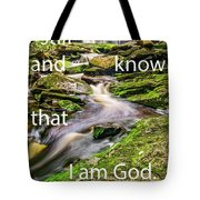 Stillness Speaks Tote Bag