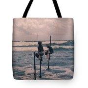 Stilt Fishermen Of Sri Lanka Tote Bag