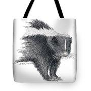 Stiped Skunk Tote Bag