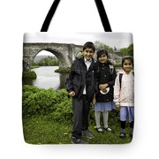 Stirling School Children By The Medieval Bridge  Tote Bag