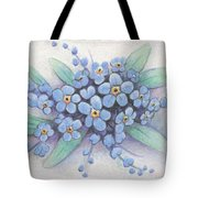 Stitched Forget-me-nots Tote Bag