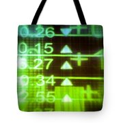 Stock Market Numbers Tote Bag