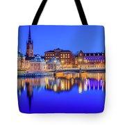 Stockholm Blue Hour Postcard Tote Bag