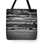 Stockholm In Black And White Tote Bag