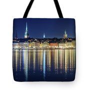 Stockholm Old City Magic Quartet Reflection In The Baltic Sea Tote Bag