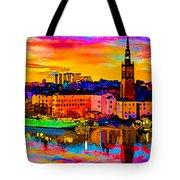 Stockholm Reflective Art Tote Bag