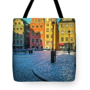 Stockholm Stortorget Square Tote Bag