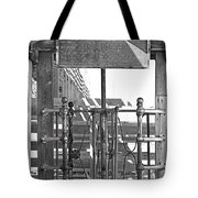 Stockyard Gate Black And White Tote Bag
