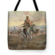 Stolen Horses Tote Bag by Charles Marion Russell