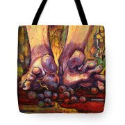 Stomp Tote Bag by Peggy Wilson