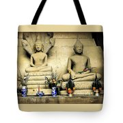 Stone And Flowers - Buddhist Shrine Tote Bag