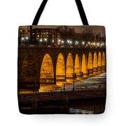 Stone Arch Bridge Night Shot Tote Bag