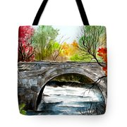 Stone Bridge In Maine  Tote Bag