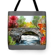 Stone Bridge In Maine  Tote Bag