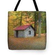 Stone Building In Autumn Tote Bag