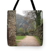 Stone Building Wall And Fence Tote Bag