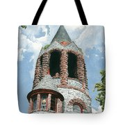 Stone Church Bell Tower Tote Bag by Dominic White