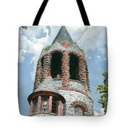 Stone Church Bell Tower Tote Bag