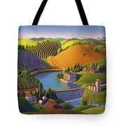 Stone City West Tote Bag by Robin Moline