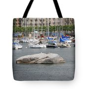 Stone Iron Chain And Seagull Tote Bag