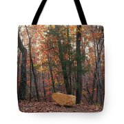 Stone Leaves And Trees Tote Bag