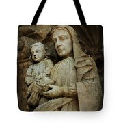 Stone Madonna And Child Tote Bag