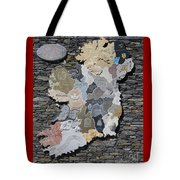 Stone Map Of Ireland Tote Bag