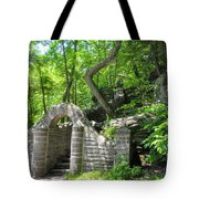 Stone Stairway Along The Wissahickon Creek Tote Bag
