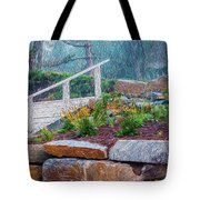 Stone Wall And Stairs Tote Bag