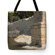 Stone Wall In Foca Tote Bag