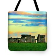 Stonehenge Sunset In Spring Tote Bag