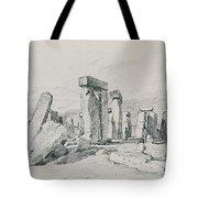 Stonehenge Wiltshire Tote Bag by John Constable