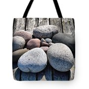 Stones And Old Wood 3  Tote Bag