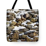 Stones And Snow Tote Bag