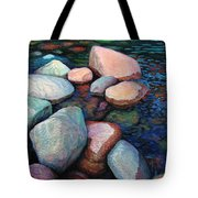 Stones Of The Lake Tote Bag