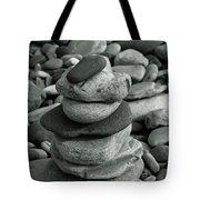 Stones Still Life Monochrome Tote Bag