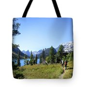 Stoney Indian Pass Trail Around Cosley Lake - Glacier National Park Tote Bag