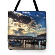 Stonington Lobster Boats Tote Bag