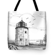 Stony Point Lighthouse Tote Bag by Richard Wambach